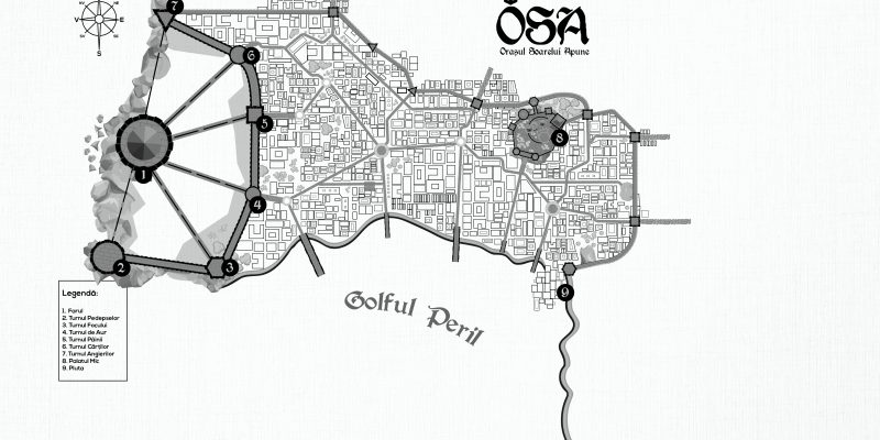 harta osa caderea celor 7 turnuri